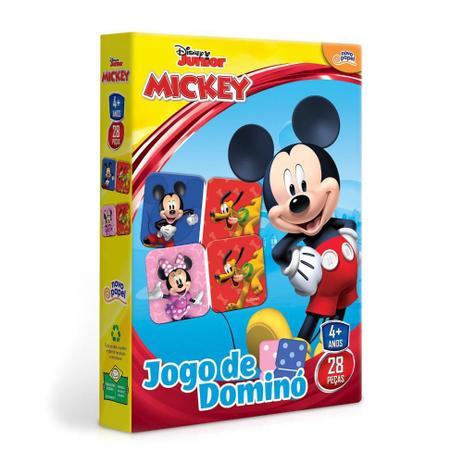 Jogo De Domino Mickey Disney Junior: 28 Peças 4+ - Hasbro