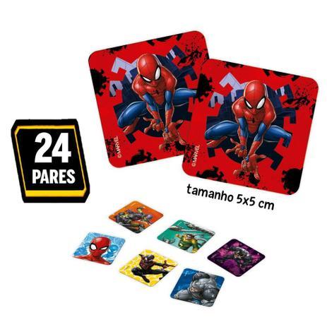 Jogo de Memória Homem Aranha: 24 Pares Brinquedo Educativo - Hasbro