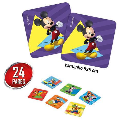 Jogo de Memória Mickey Disney Junior: 24 Pares Brinquedo Educativo - Hasbro