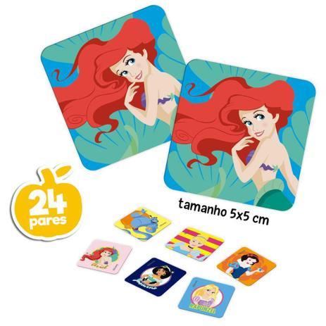 Jogo de Memória Princesas Disney: 24 Pares Brinquedo Educativo - Hasbro