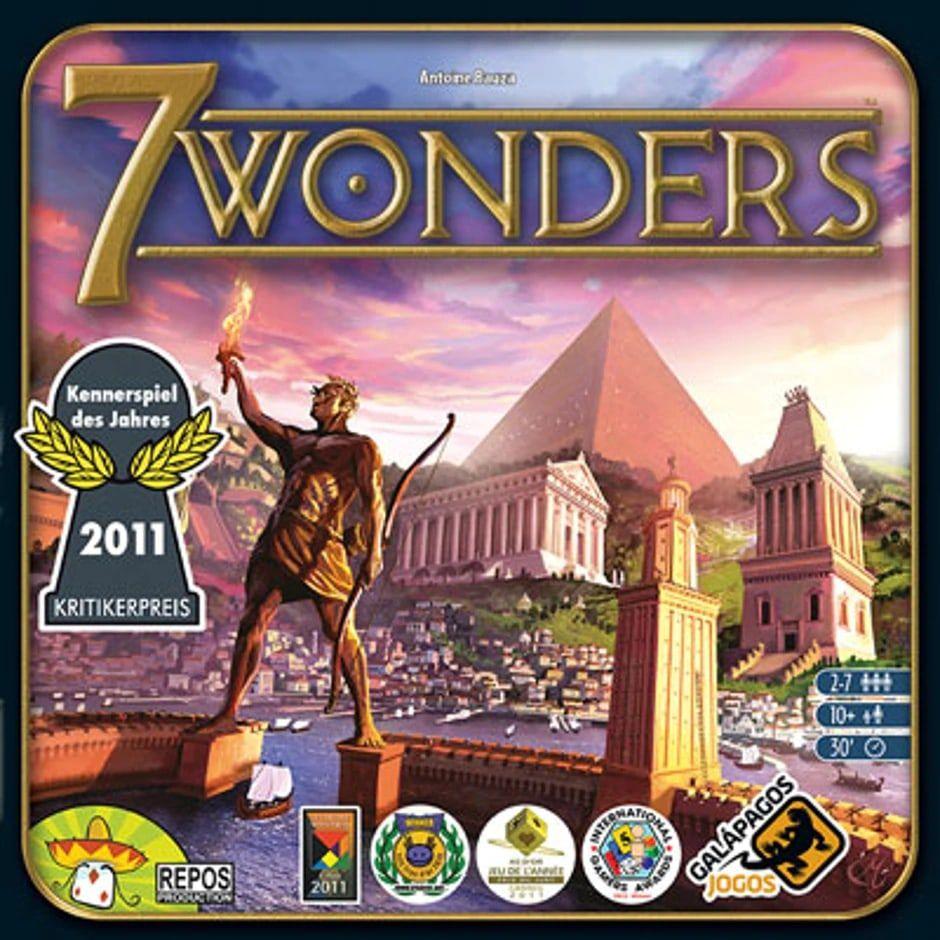 Jogo de Tabuleiro (Board Games - Boardgames) 7 Wonders - Galápagos Jogos - CD