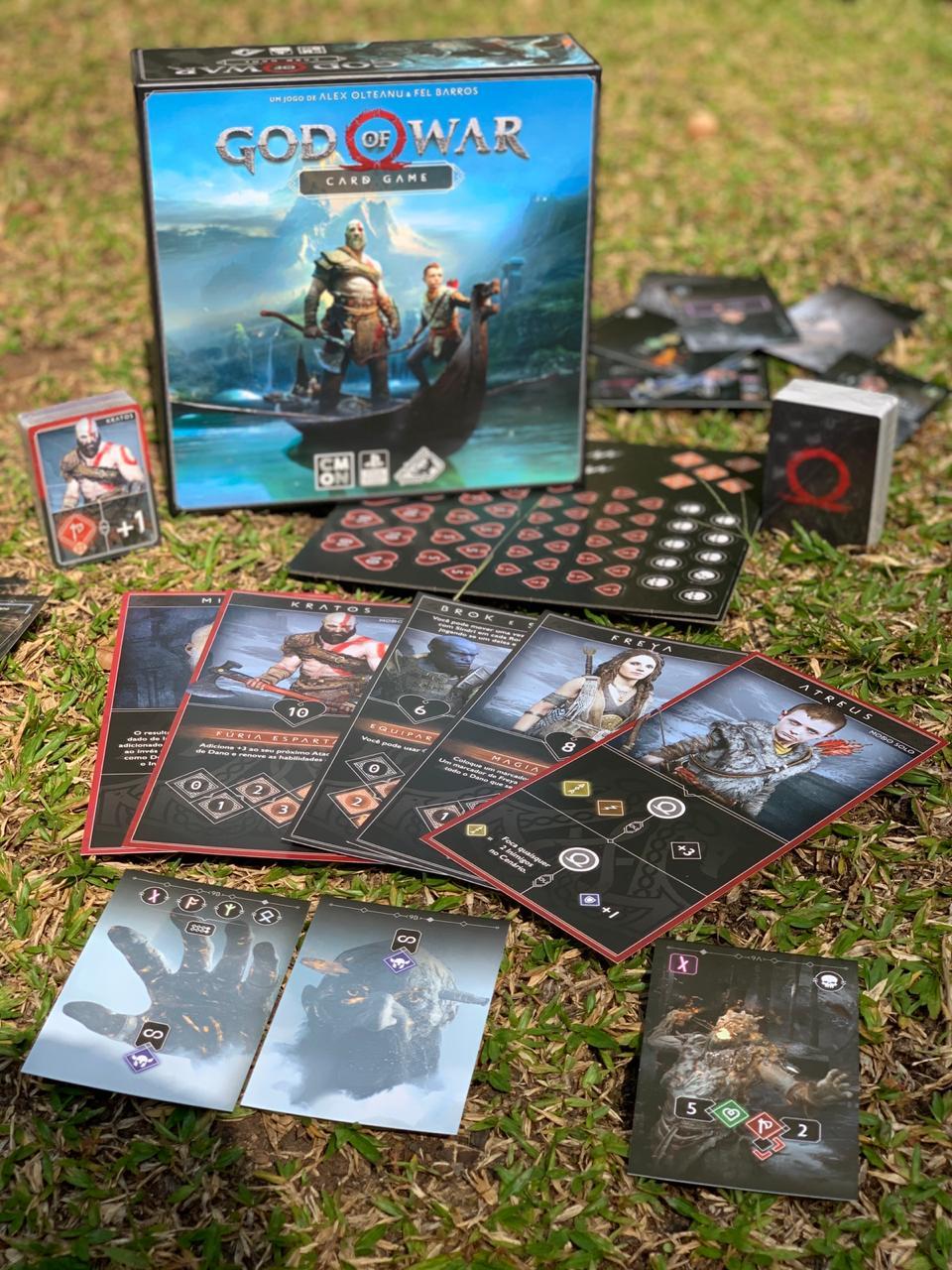 Jogo de Tabuleiro (Board Games) God of War: Card Game - Galápagos Jogos