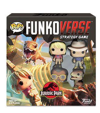 Funko Jogo de Tabuleiro (Board Games) Jurassic Park 100 Strategy Game Base Set: Funkoverse - Funko (Apenas Venda Online)