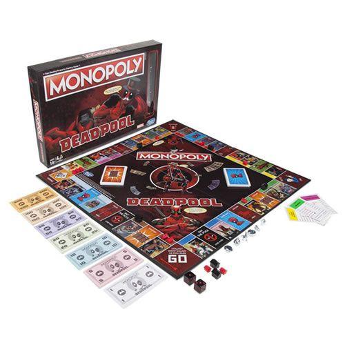 Jogo de Tabuleiro (Board Games) Monopoly Deadpool: Marvel - USAopoly (Apenas Venda Online)