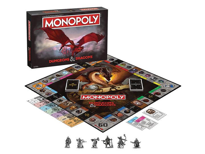 PRÉ VENDA: Jogo de Tabuleiro (Board Games) Monopoly Dungeon & Dragons D&D - USAopoly Hasbro Gaming