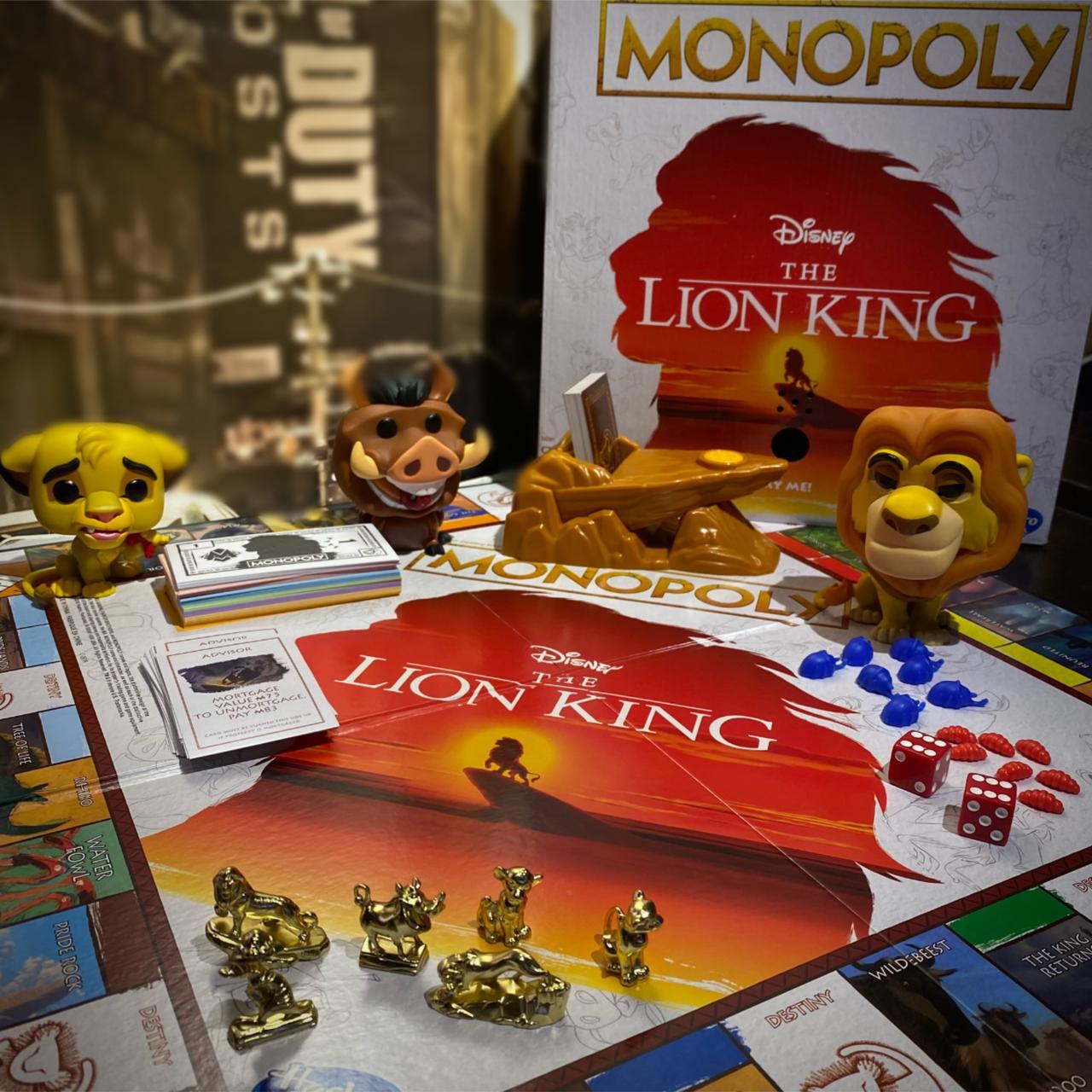 Jogo de Tabuleiro (Board Games) Monopoly O Rei Leão (The Lion King) Disney - Hasbro Gaming