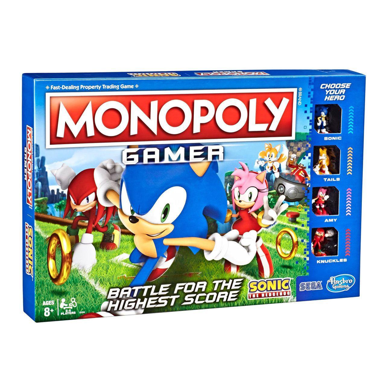 Jogo de Tabuleiro (Board Games) Monopoly Sonic The Hedgehog (Collector's Edition) - Hasbro