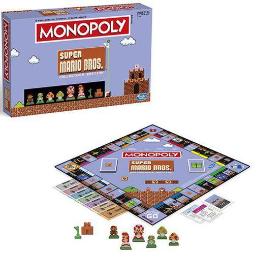 Jogo de Tabuleiro (Board Games) Monopoly Super Mario Bros. (Collectors Edition) - USAopoly