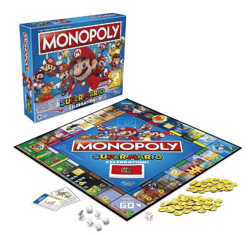 Jogo de Tabuleiro (Board Games) Monopoly Super Mario (Celebration Edition) Hasbro Gaming - MKP