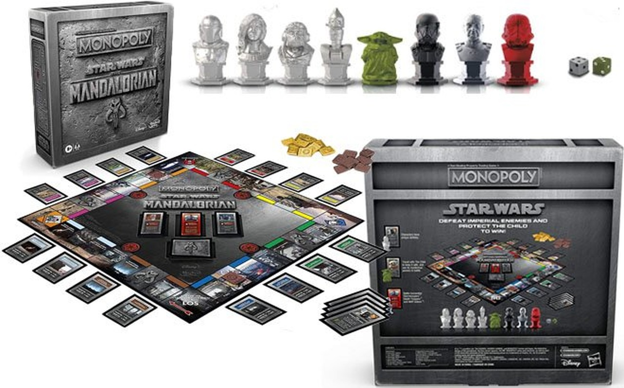 Jogo de Tabuleiro (Board Games) Monopoly The Mandalorian: Star Wars Disney - Hasbro