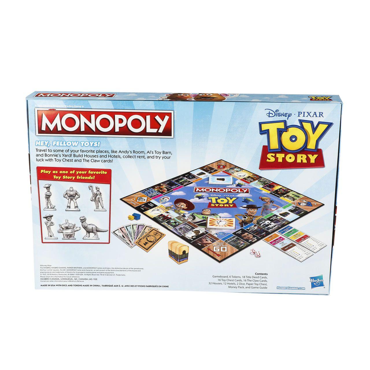 Jogo de Tabuleiro (Board Games) Monopoly Toy Story: Disney - USAopoly