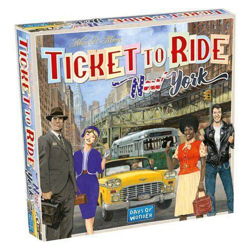 Jogo de Tabuleiro (Board Games - Boardgames) Ticket to Ride New York- Galápagos Jogos