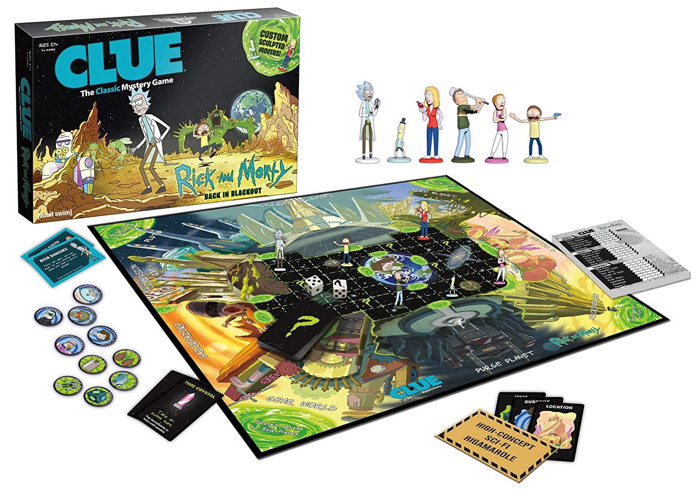 Jogo de Tabuleiro Clue: Rick And Morty - USAopoly - Monopoly