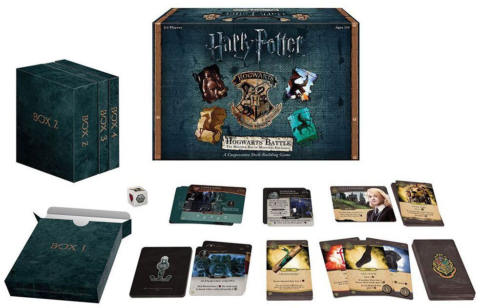 Jogo de Tabuleiro Hogwarts Battle (The Monster Box Of Monsters Expansion Pack #1): Harry Potter - USAopoly - Monopoly