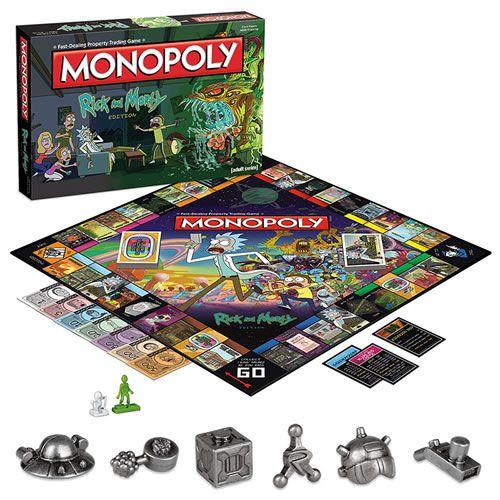 Jogo de Tabuleiro Monopoly: Rick And Morty - USAopoly (Apenas Venda Online) - Monopoly