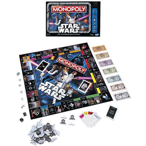 Jogo de Tabuleiro Monopoly: Star Wars 40th Anniversary Edition - USAopoly (Apenas Venda Online)