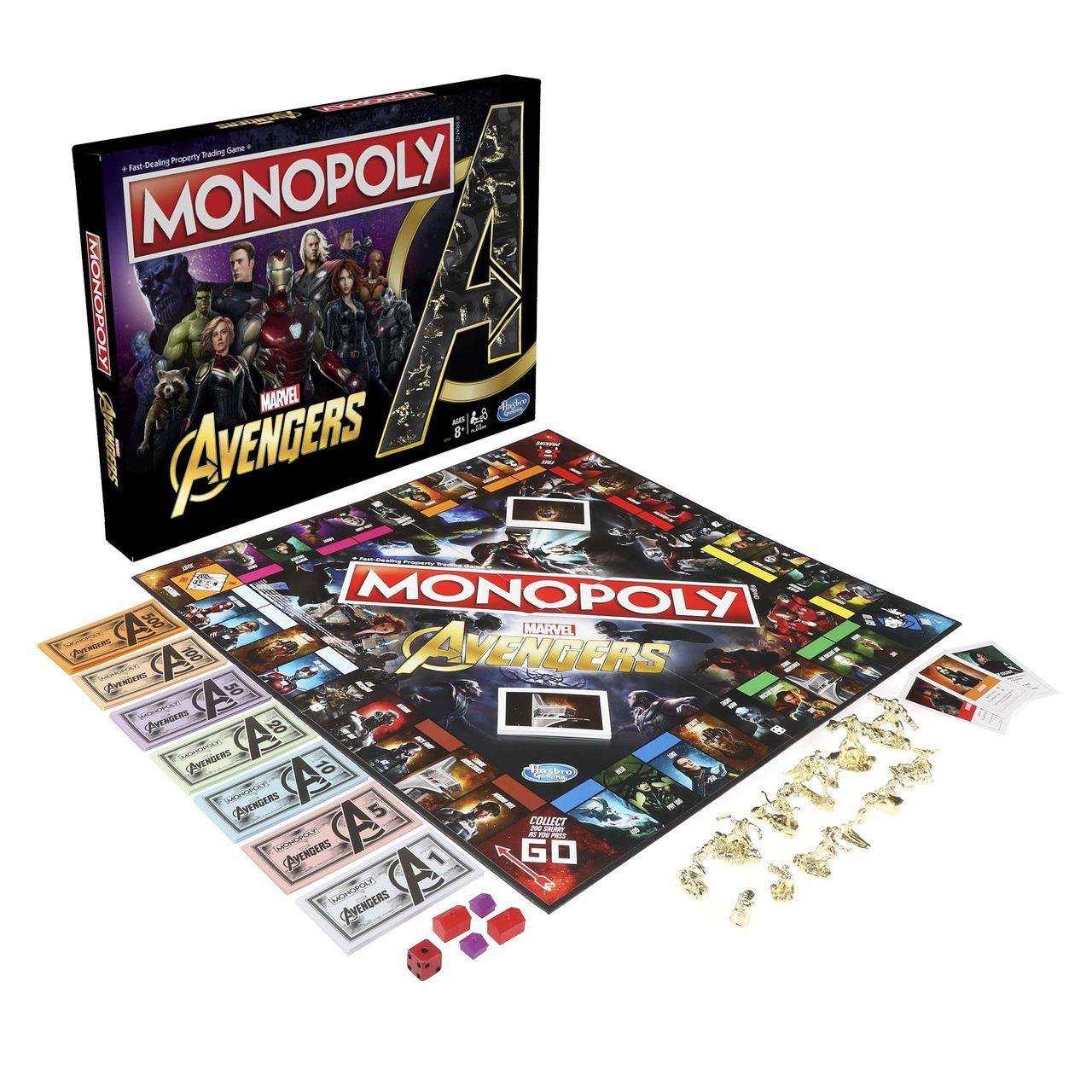 Jogo de Tabuleiro (Board Games) Monopoly Vingadores (Avengers): Marvel - USAopoly