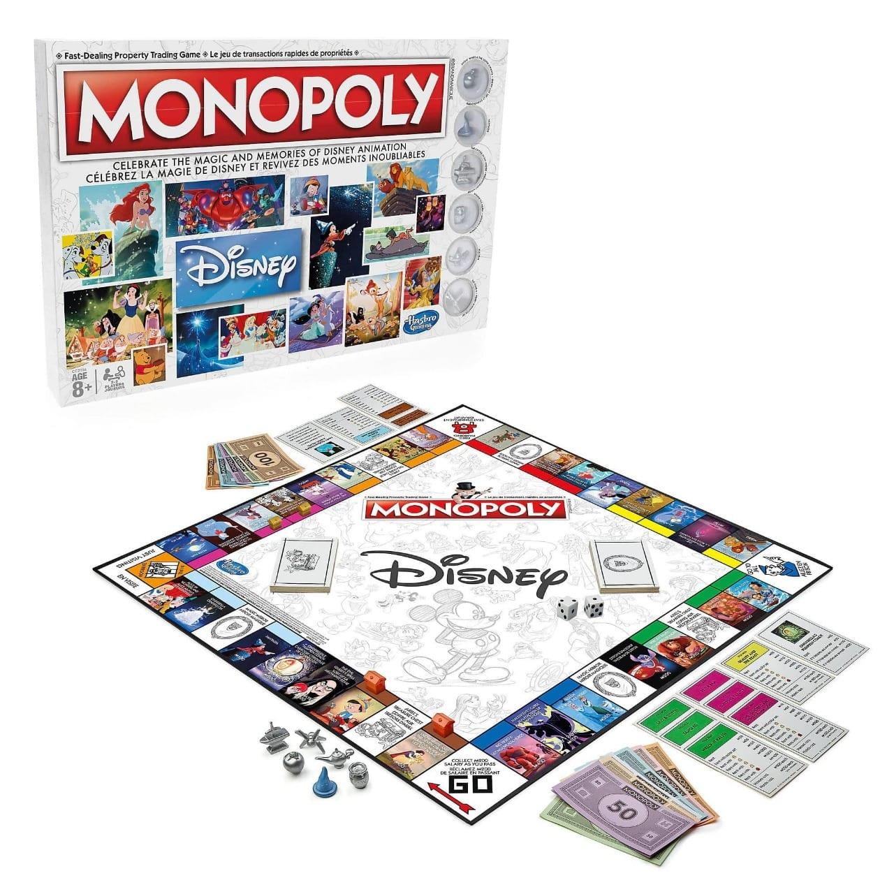Jogo de Tabuleiro Monopoly: Walt Disney Animation  - USAopoly