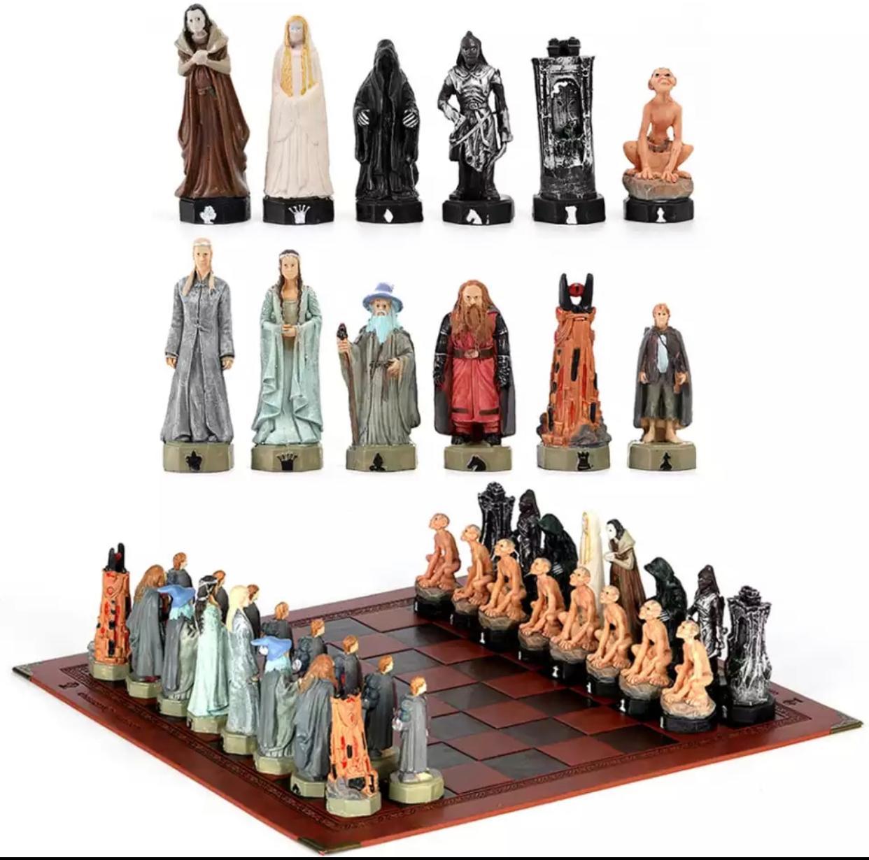 Jogo de Xadrez Chess Geek O Senhor dos Anéis The Lord of the Rings 32 Peças - EVALI