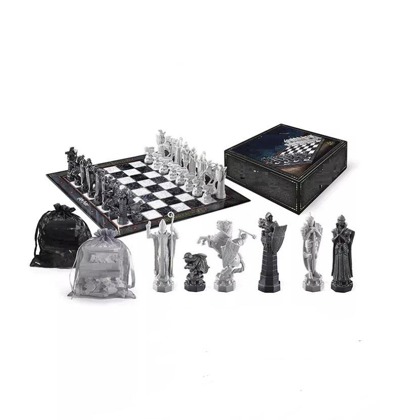 Jogo de Xadrez Chess Geek Wizard Bruxo Harry Potter 32 Peças - EVALI