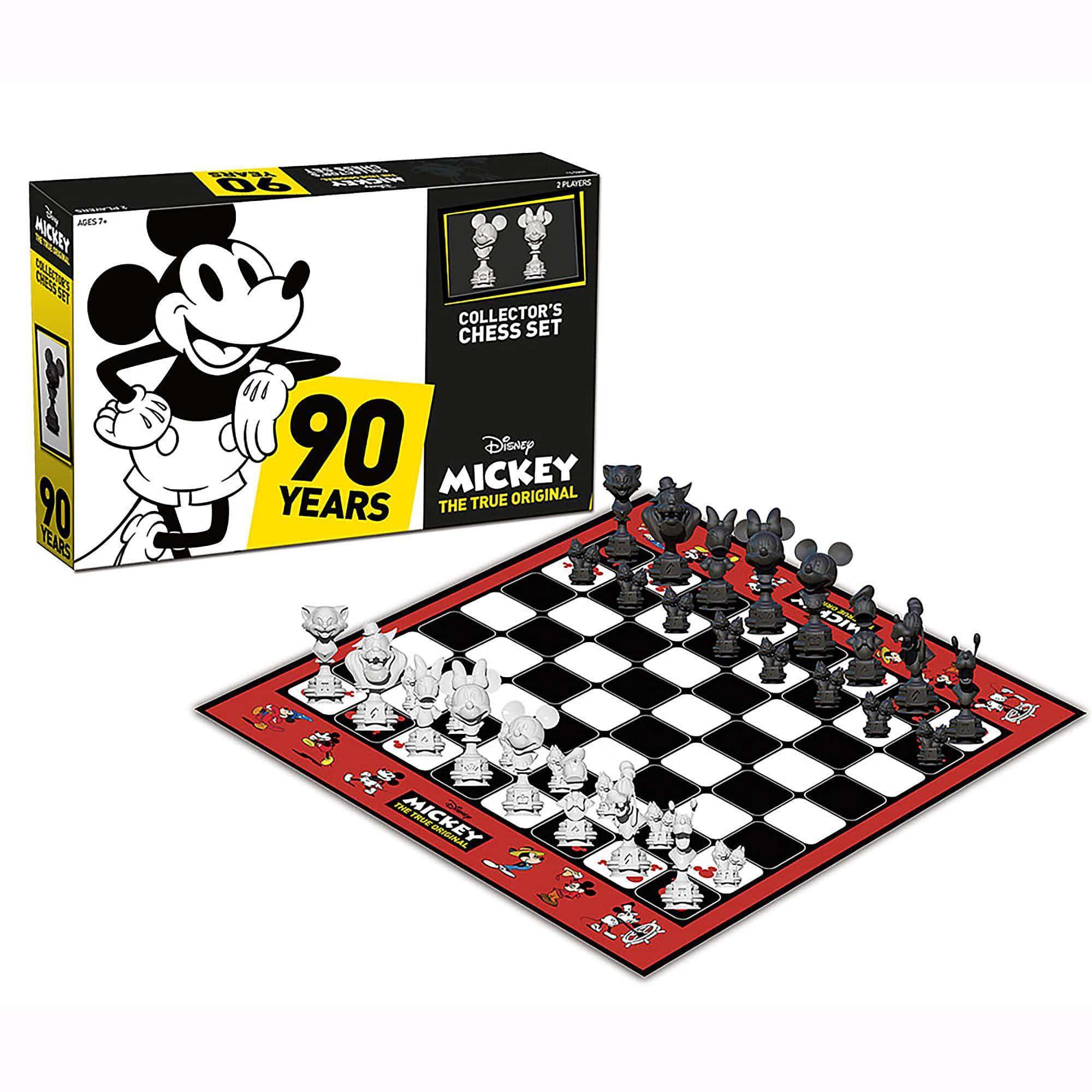 Jogo de Xadrez Mickey Mouse (Collector´s Chess Set 90th Anniversary) - Disney