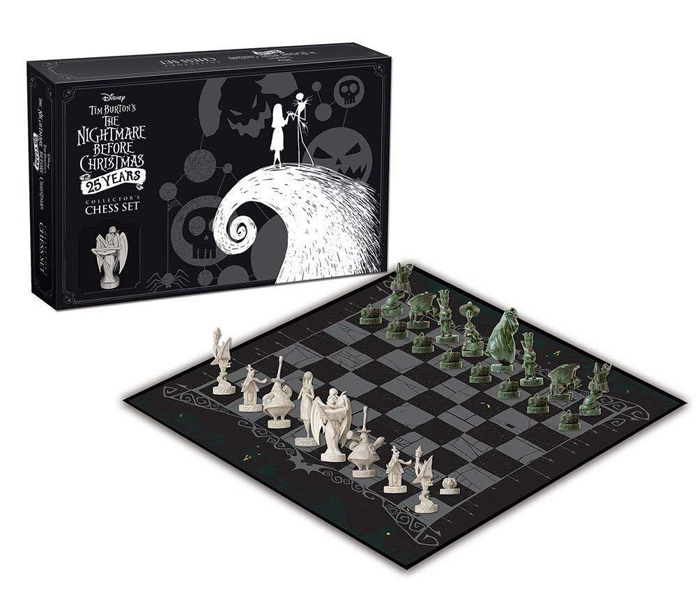 Jogo de Xadrez O Estranho Mundo de Jack (The Nightmare Before Christmas) 25th Anniversary - USAopoly (Apenas Venda Online)