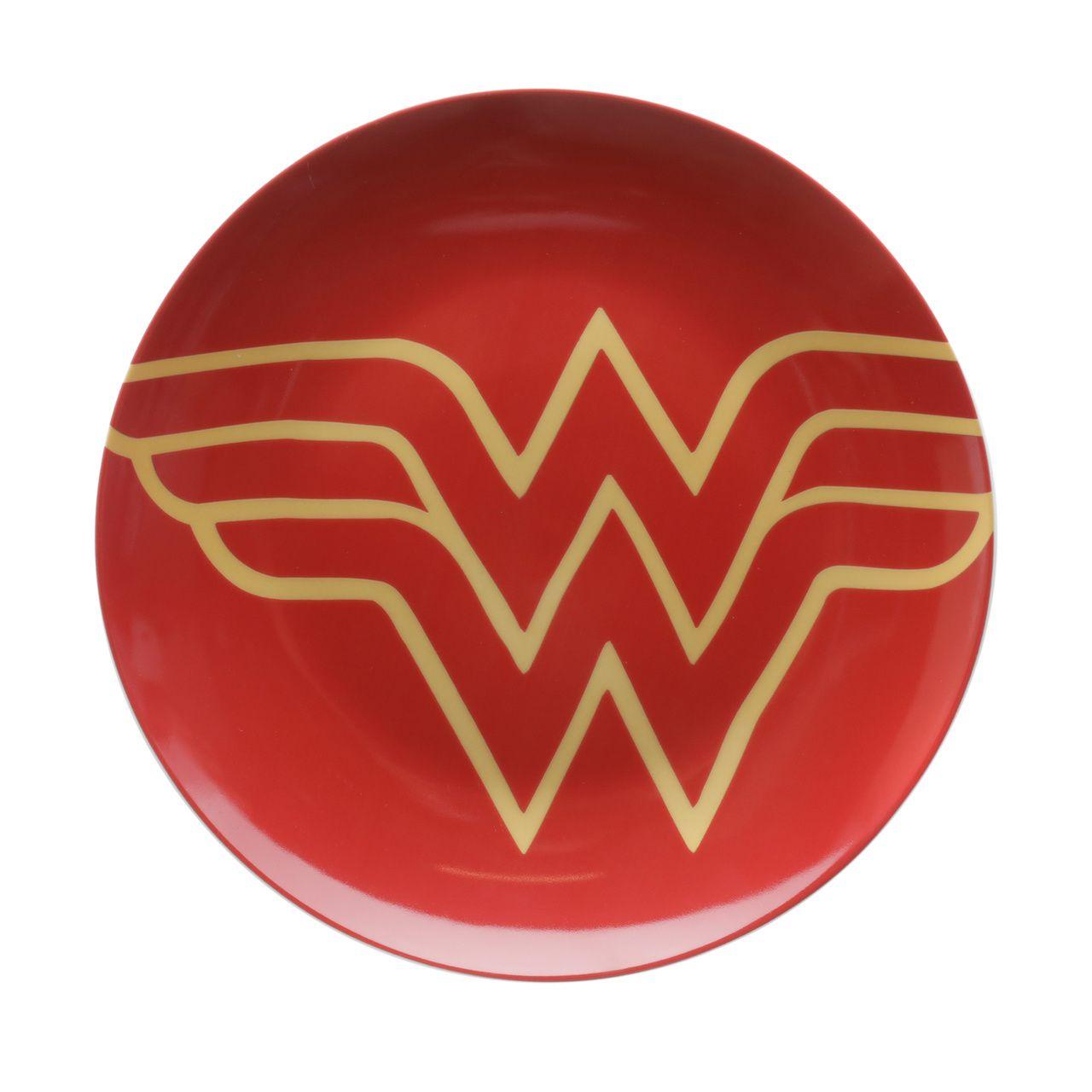 Kit 2 Pratos de Sobremesa Logo Mulher-Maravilha (Wonder Woman): DC Comics - Urban