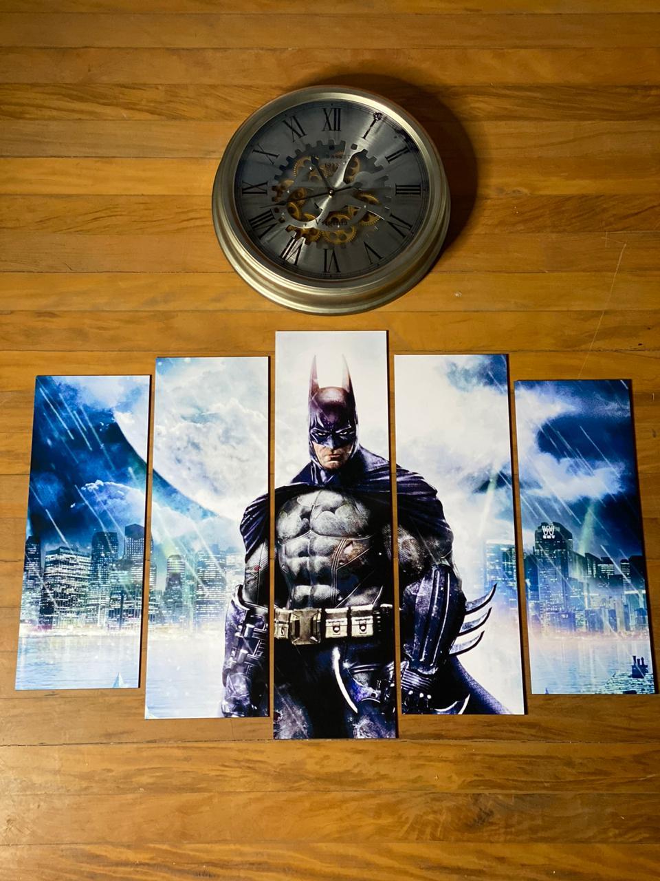Kit 5 Quadros Mosaico Batman: Batman Arkham Asylum