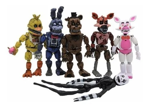 Kit 6 Action Figures Five Nights at Freddy's