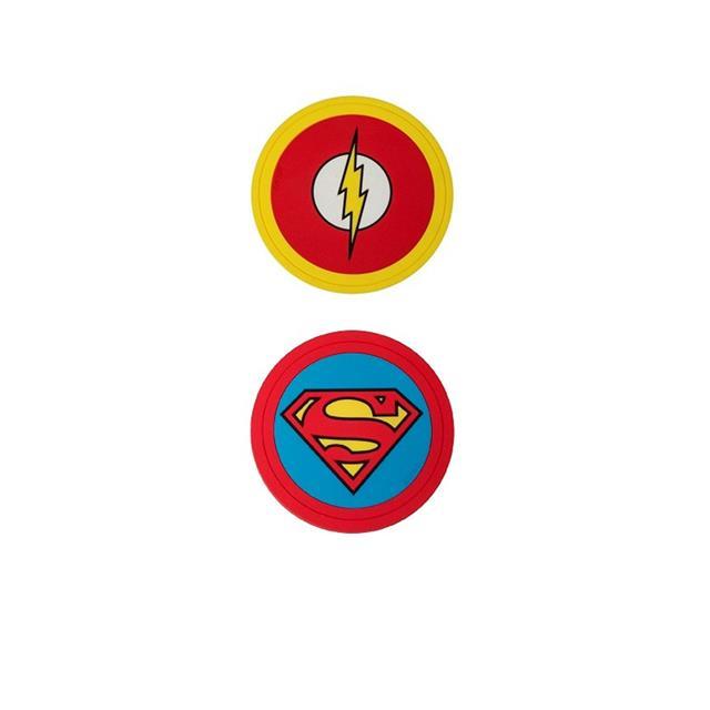 Kit 6 Porta Copos PVC - DC Comics
