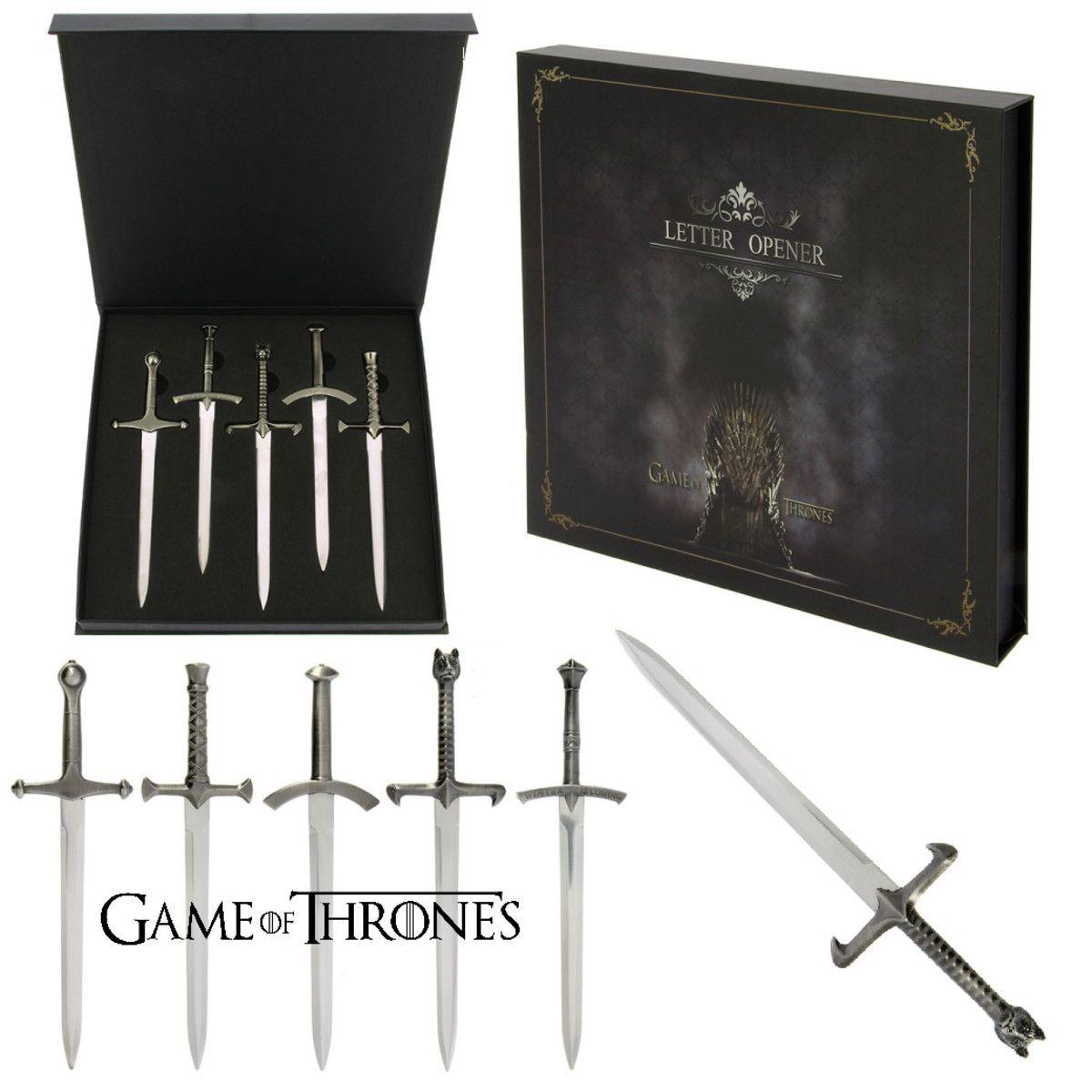 Kit Abridor De Cartas: Espadas Game Of Thrones (5 Mini Espadas/Adagas)