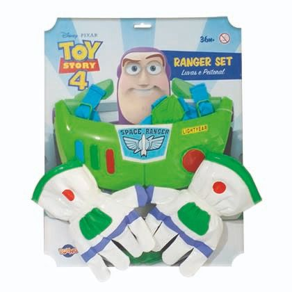 Kit Acessórios Buzz Lightyear (Luvas e Peitoral): Toy Story - Toyng