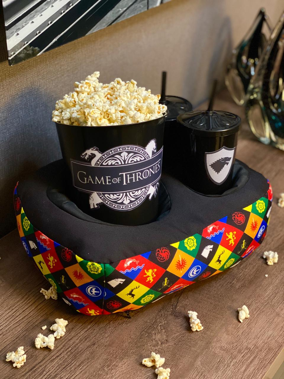 Kit Almofada Porta Pipoca Casas: Game of Thrones (2 Copos)