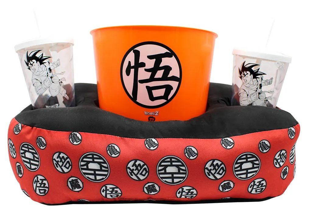 Kit Almofada Porta Pipoca Goku: Dragon Ball