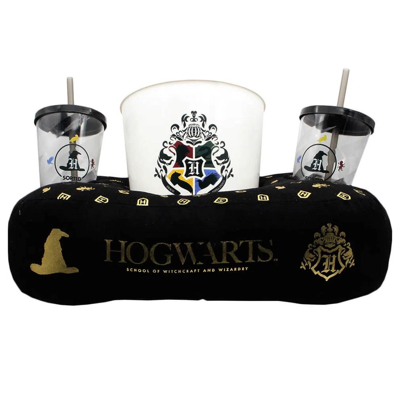 Kit Almofada Porta Pipoca Hogwarts - Harry Potter - Zona Criativa