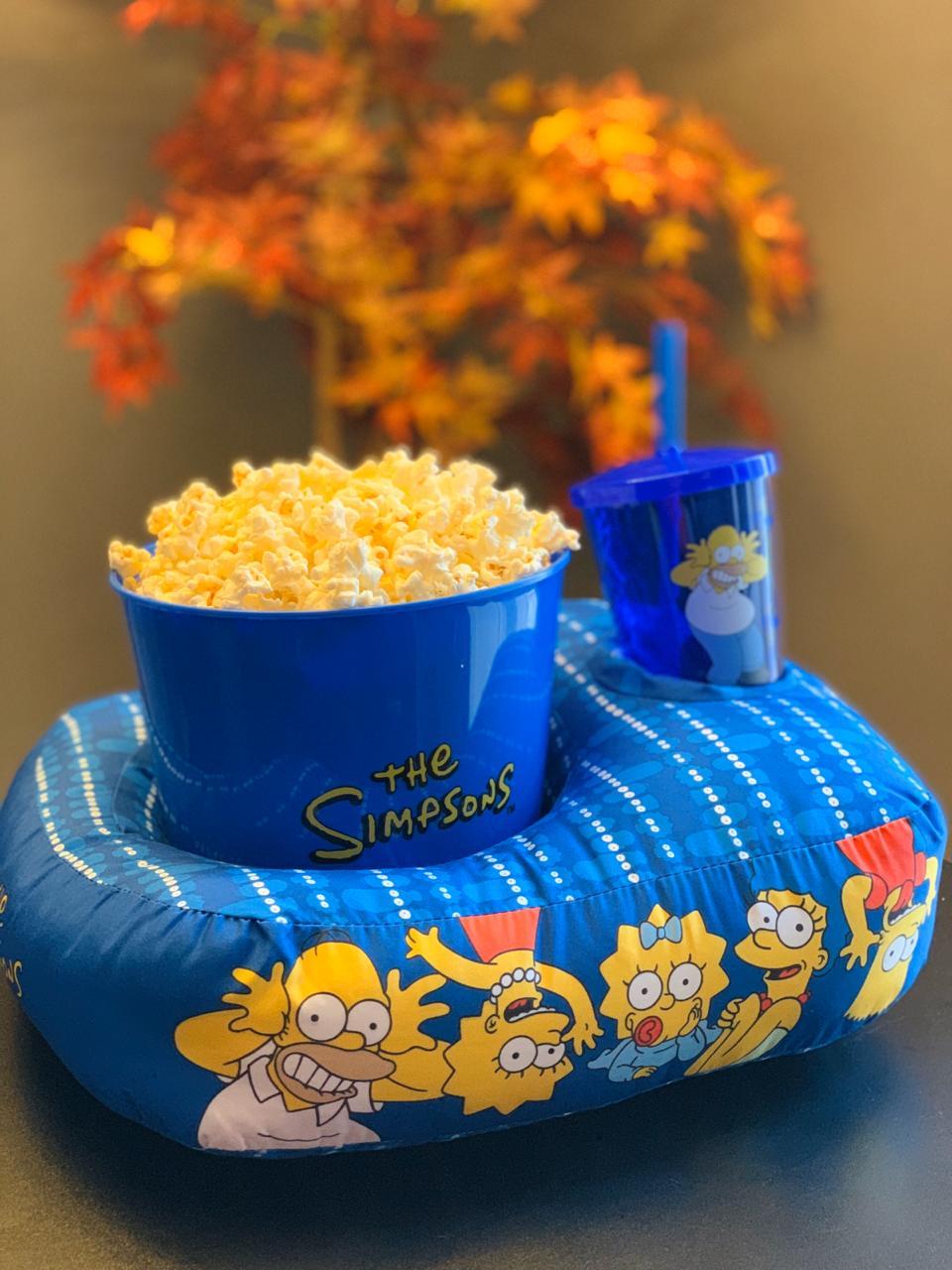 Kit Almofada Porta Pipoca (Individual) Os Simpsons (The Simpsons)
