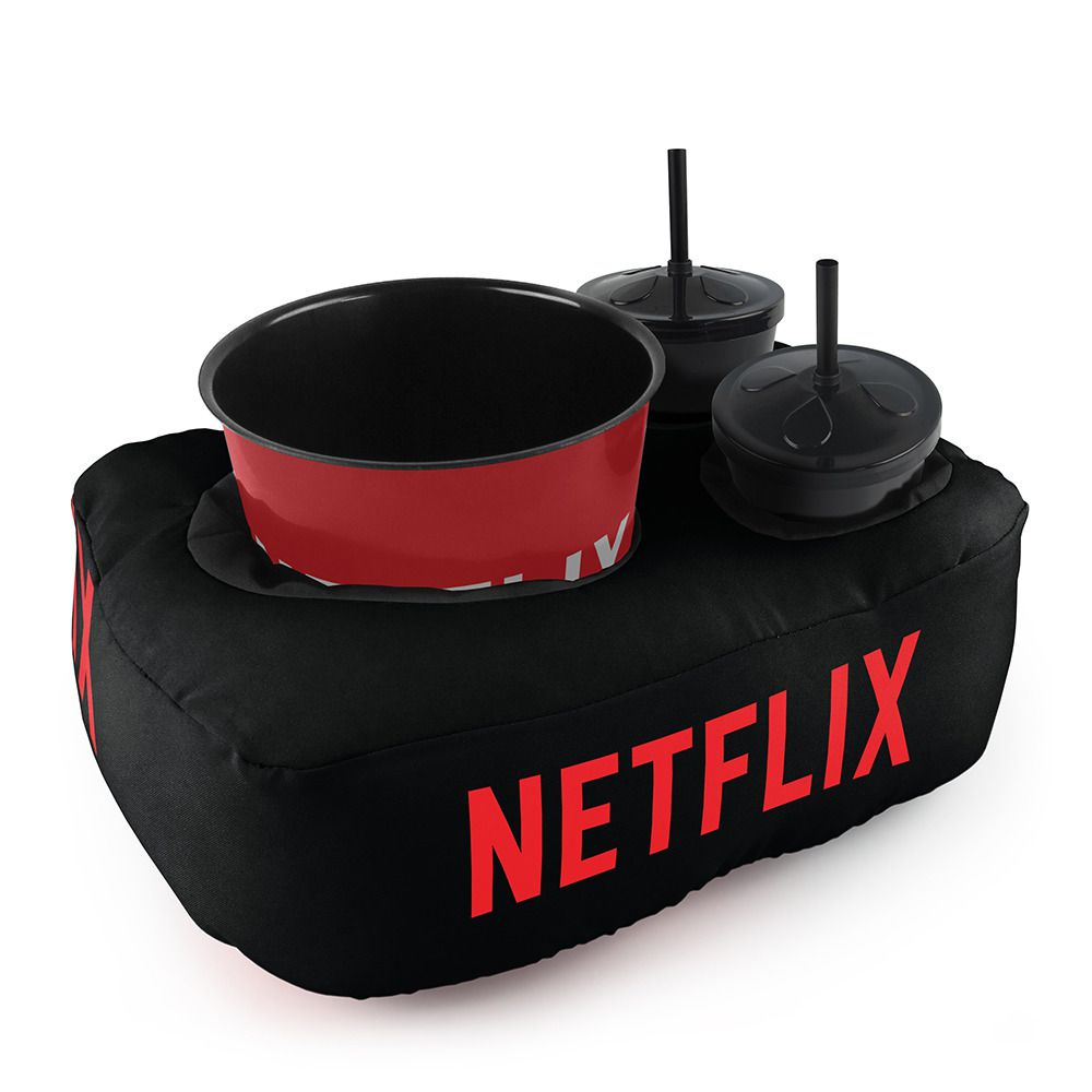Kit Almofada Porta Pipoca: Netflix (2 Copos)
