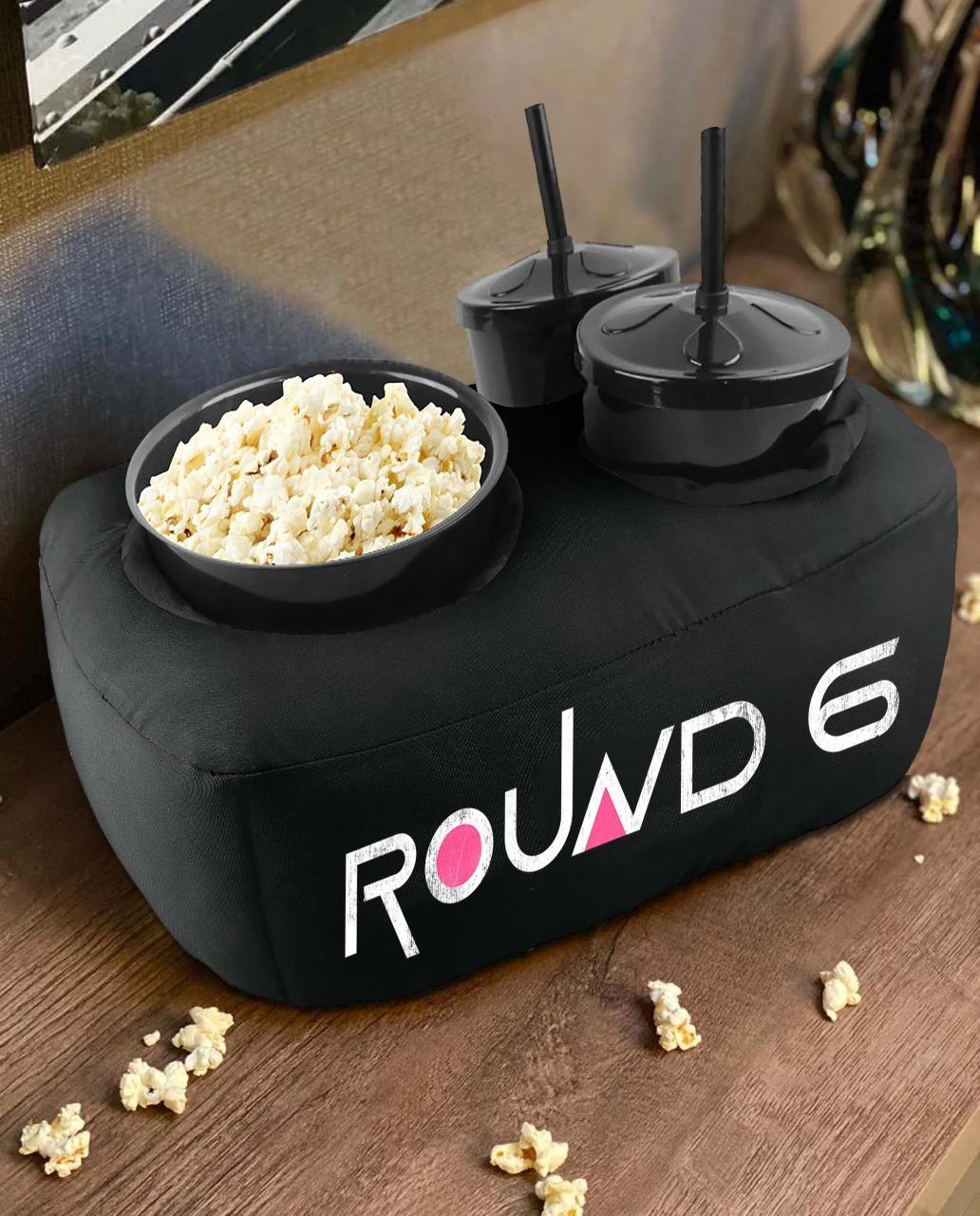 Kit Almofada Porta Pipoca Round 6 Squid Games: Netflix - EV