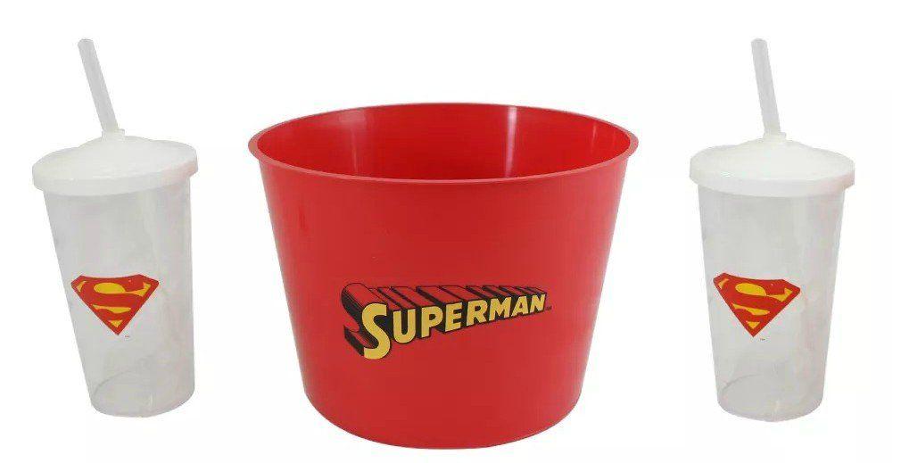 Kit Almofada Porta Pipoca Superman: DC