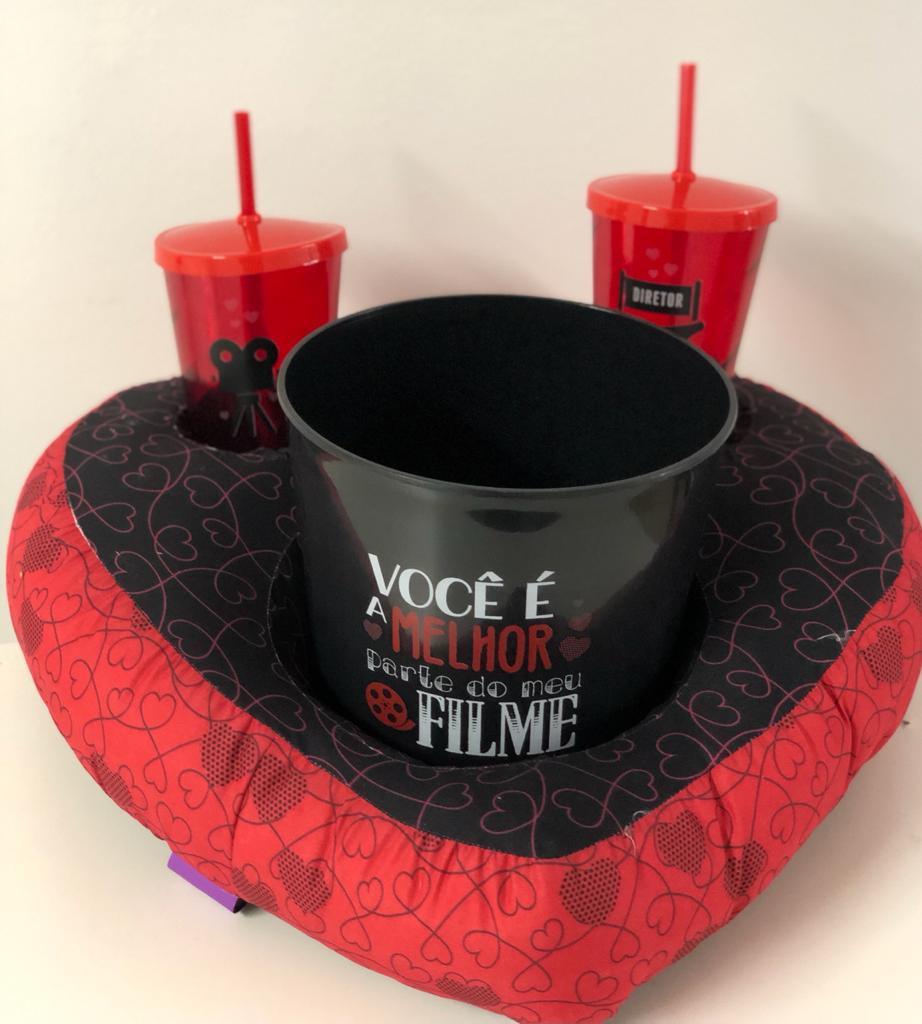 Kit Almofada Porta Pipoca ''Você é a Melhor Parte do meu Filme'' - Zona Criativa
