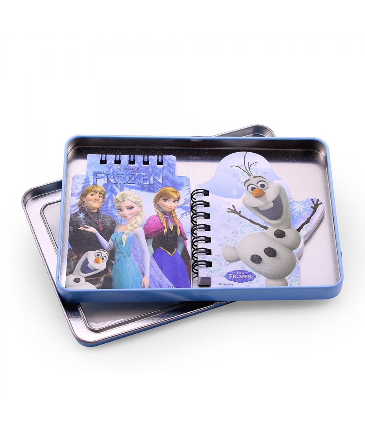 Kit Bloco De Notas Olaf, Anna e Elsa: Frozen -  Disney
