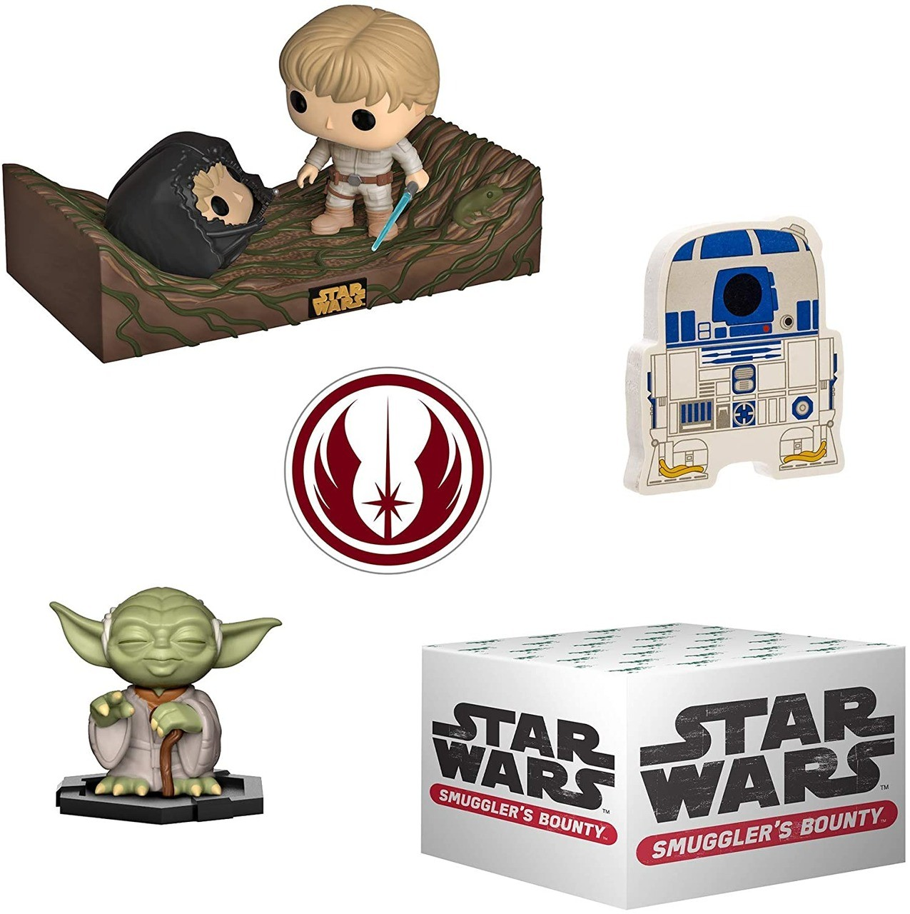 Funko Kit Box Colecionável Exclusivo Pop! Funko Smuggler´s Bouty: Star Wars Tema Dagobah - Funko