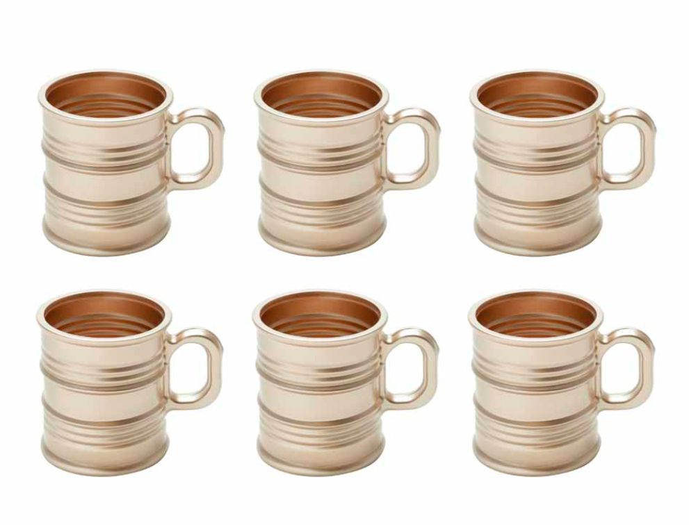 Kit Caneca Vintage Rosé - 245ml (Kit de 6) - Lyor