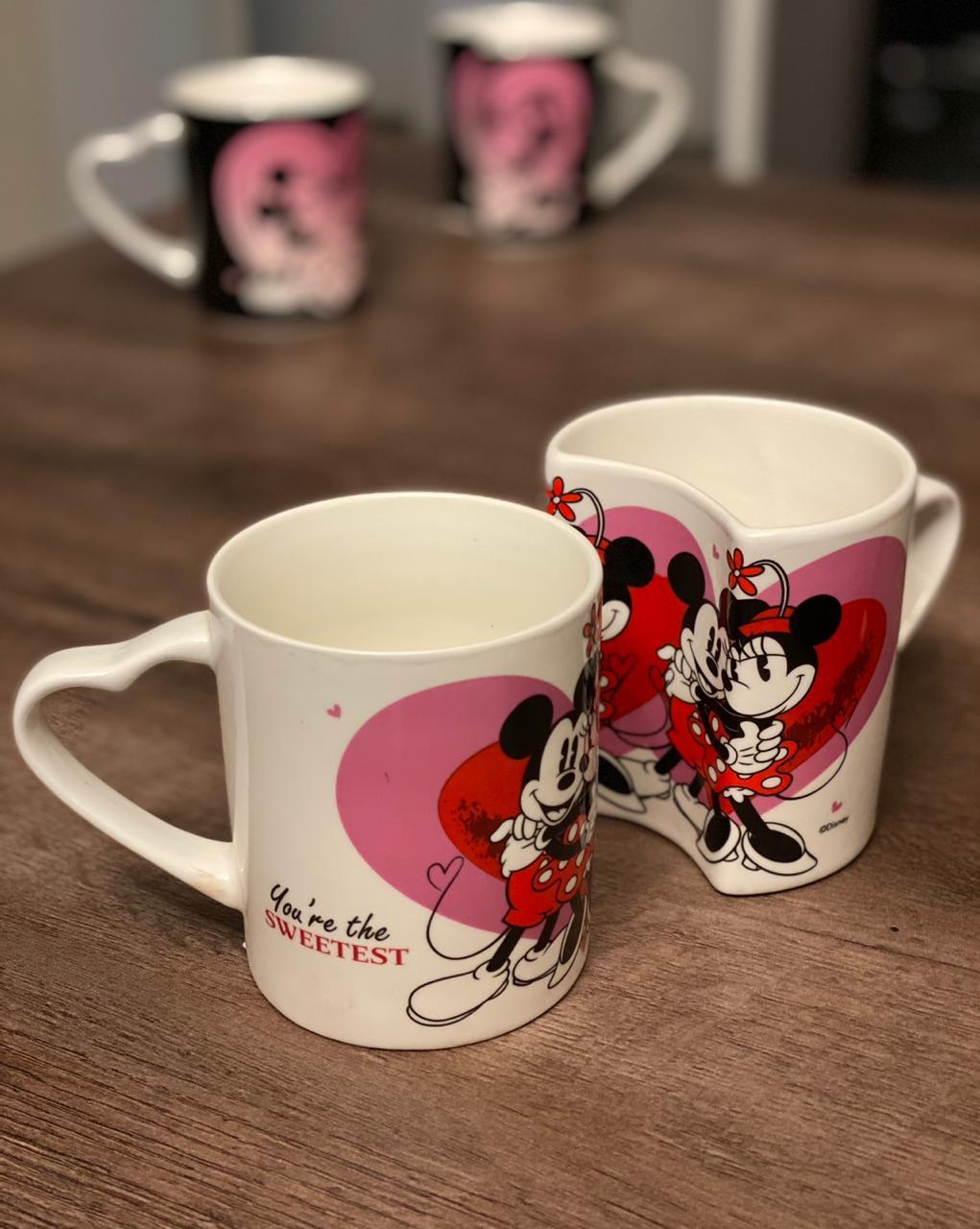 Kit Canecas Mickey & Minnie: Amor (Branca) - Disney
