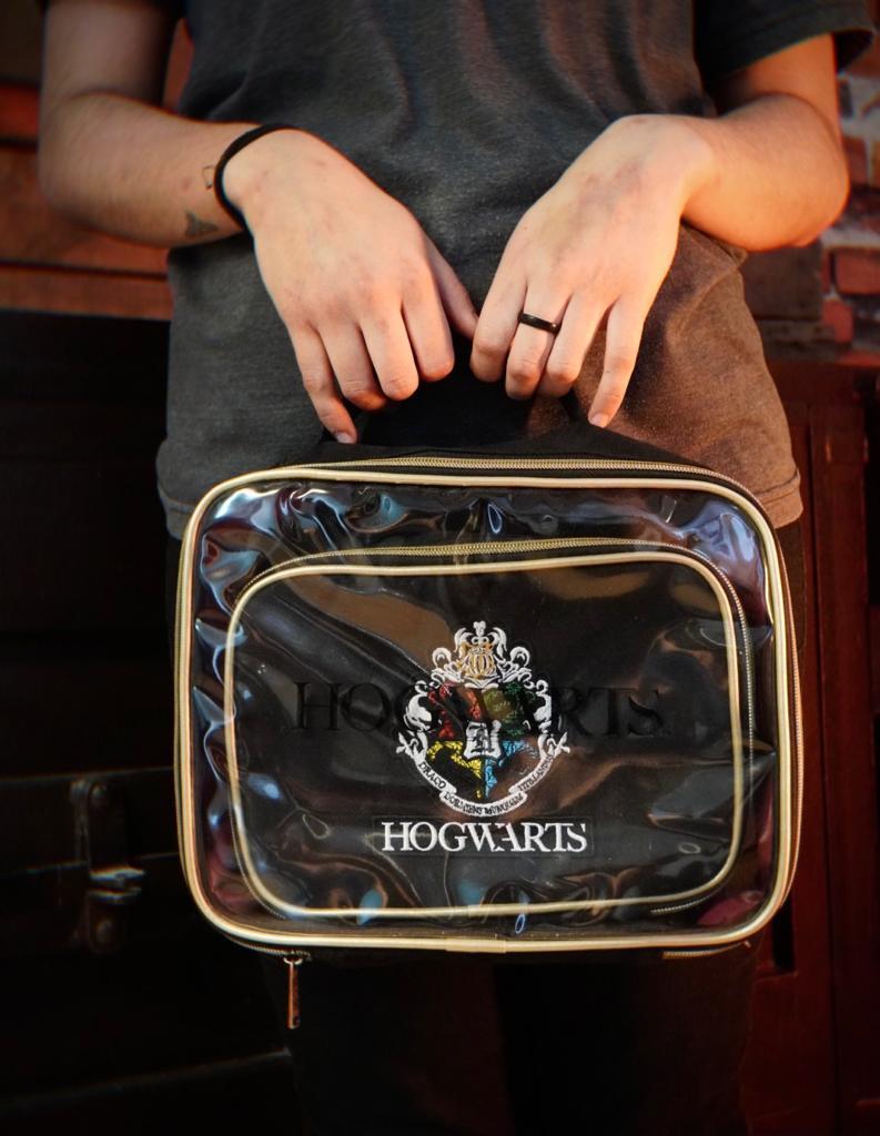 Kit Com 2 Bolsas Nécessaire Hogwarts: Harry Potter