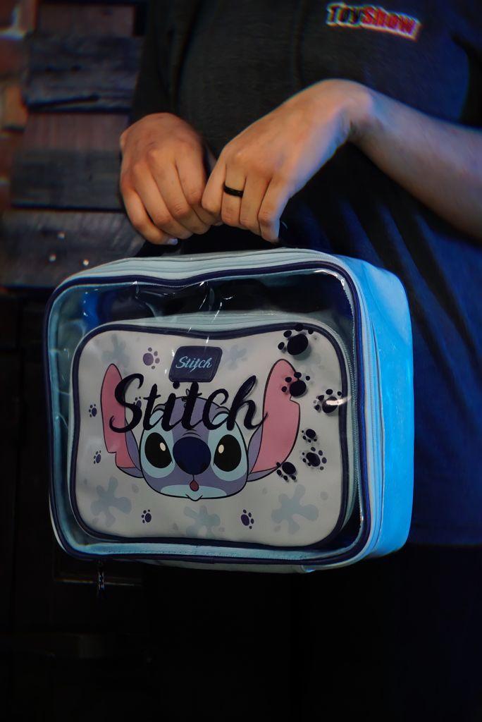 Kit Com 2 Bolsas Nécessaire Stitch: Lilo e Stitch Disney - Zona Criativa