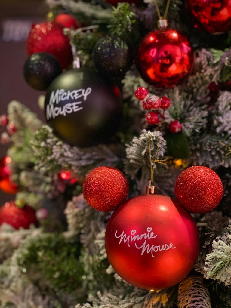 Kit Com 2 Enfeites Árvore de Natal Geek Mickey E Minnie Mouse: Disney
