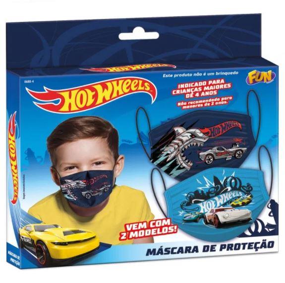 Kit Com 2 Mascara de Proteção: Hot Wheels