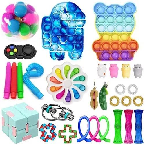 Kit com 30 Peças Anti Estresse  Fidget Brinquedo Sensorial Alívio de Stress - Mrdeal - EV
