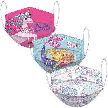Kit Com 3 Mascara de Proteção: Barbie